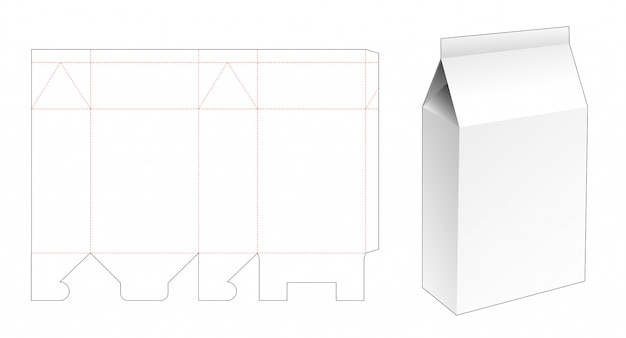 Modèle de découpe d'emballage de poudre à laver