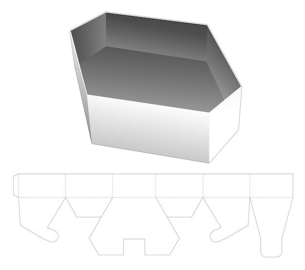 Modèle de découpe hexagonale pour récipient alimentaire