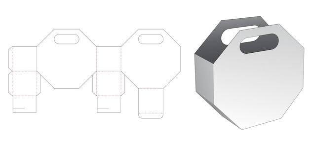 Modèle de découpe de sac d'emballage octogonal