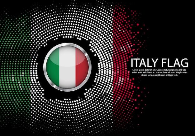 Modèle de dégradé de demi-teintes de fond du drapeau de l'italie.