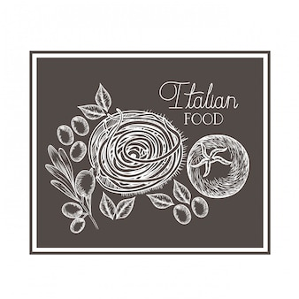 Modèle de délicieux plats italiens