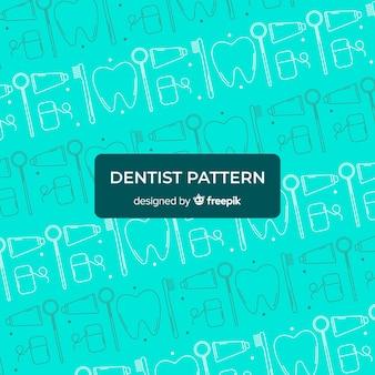 Modèle de dentiste plat