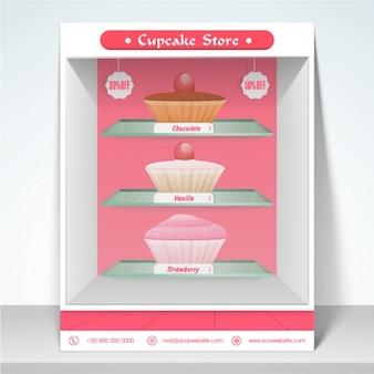 Modèle dépliant de magasin de petit gâteau