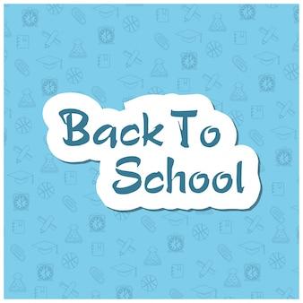 Modèle de dépliant de retour à l'école avec différents objets scolaires