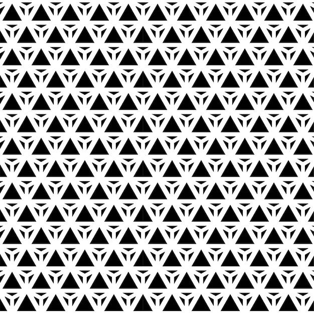 Modèle design géométrique triangle sans couture vogue fond noir et blanc