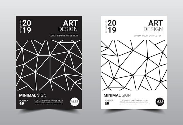 Modèle de design minimaliste créatif au format a4.