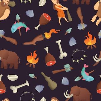 Modèle de dessin animé cavemen