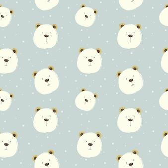 Modèle de dessin animé mignon ours