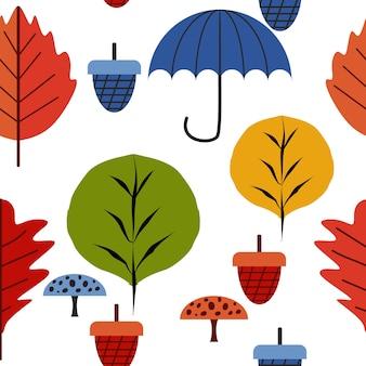 Modèle de dessin des enfants d'automne