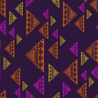 Modèle de dessin de triangle abstrait tendance