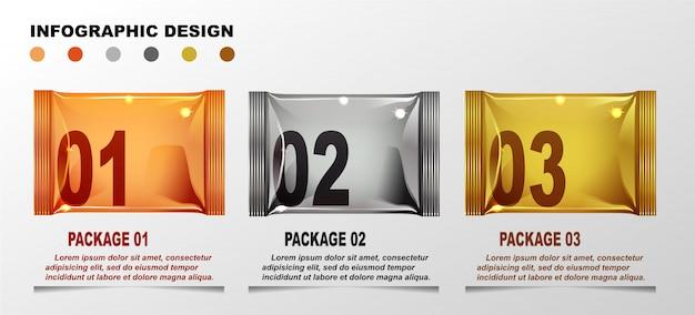 Modèle de dessins infographiques.
