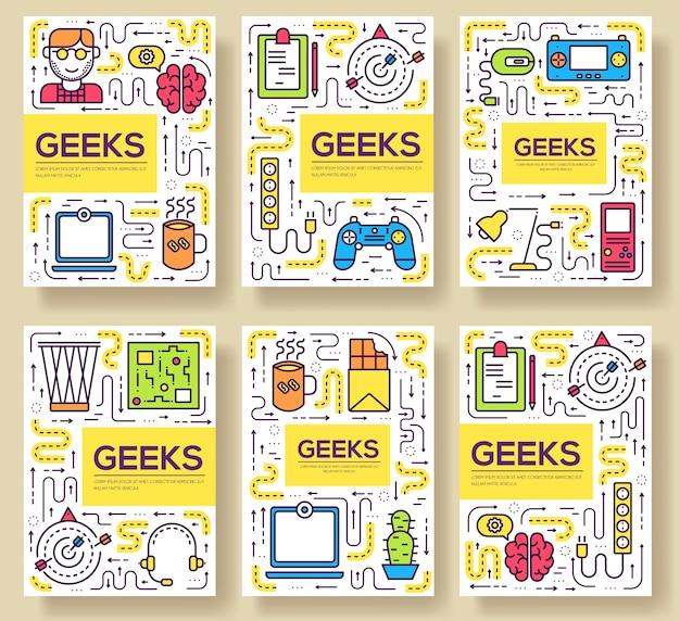 Modèle de développeur professionnel de bureau de flyear, magazines, affiches, couverture de livre, bannières.