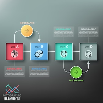 Modèle de diagramme d'infographie moderne
