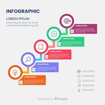 Modèle de diagramme infographique de hiérarchie
