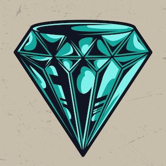 Modèle de diamant coloré parfait élégant