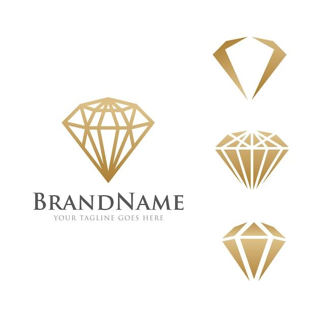 Modèle de diamant de luxe logo