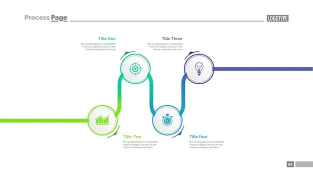 Modèle de diaporama infographique de la chronologie