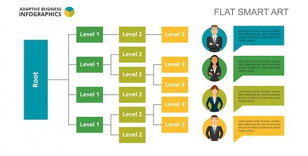 Modèle de diapositive arbre