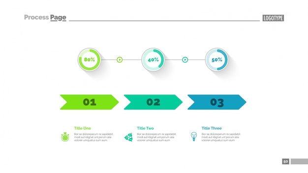 Modèle de diapositive de comparaison de trois options