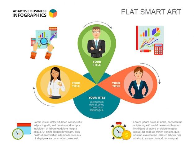 Modèle de diapositive de concept d'analyse commerciale