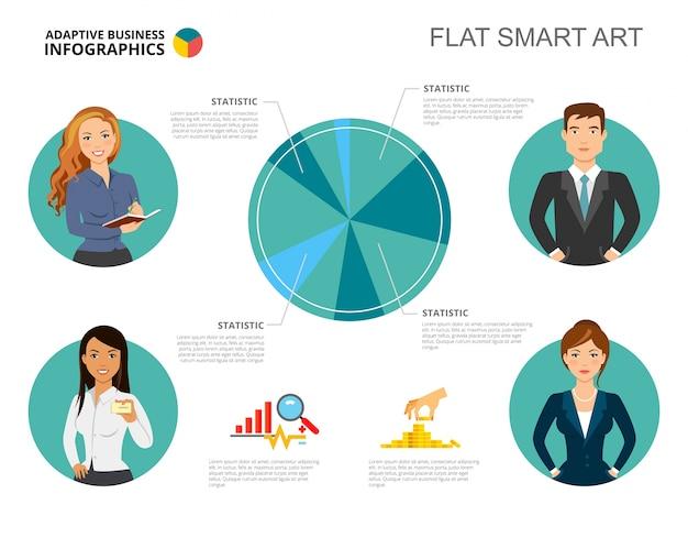 Modèle de diapositive de concept de statistiques commerciales