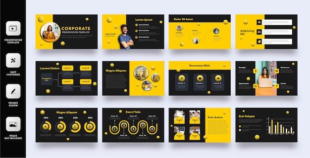 Modèle de diapositive d'entreprise