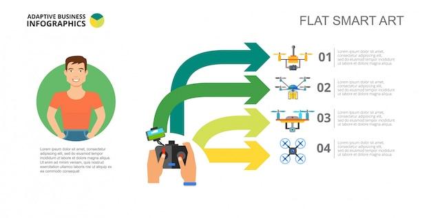 Modèle de diapositive d'option