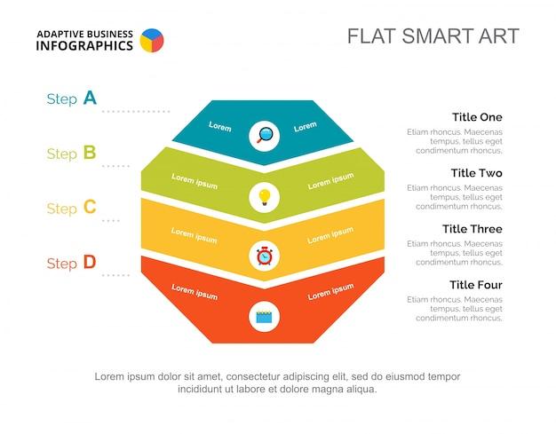 Modèle de diapositive de plan de quatre étapes