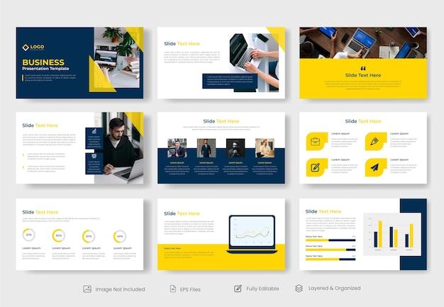 Modèle de diapositive de présentation powerpoint d'entreprise minimale