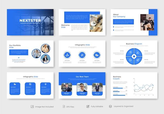 Modèle de diapositive de présentation powerpoint d'entreprise moderne