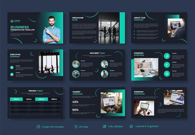 Modèle de diapositive de présentation powerpoint d'entreprise