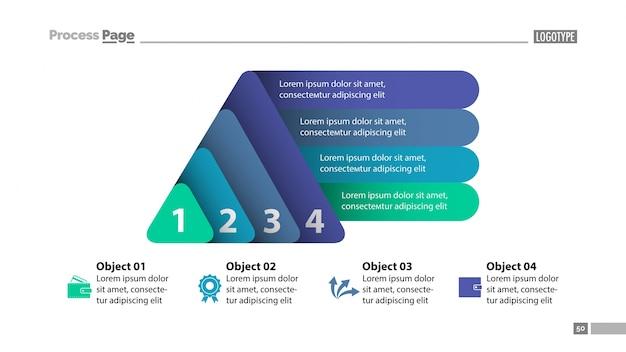 Modèle de diapositive à quatre éléments