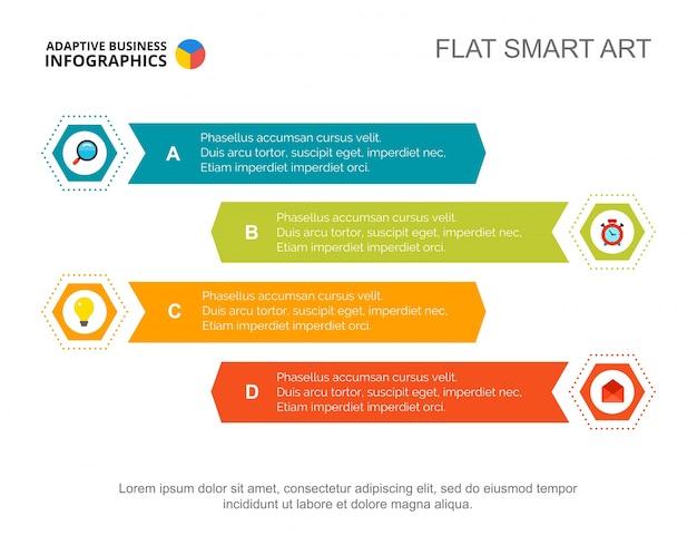 Modèle de diapositive à quatre points