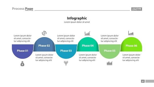 Modèle de diapositive six step plan