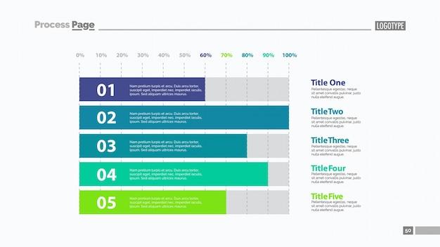 Modèle de diapositives à cinq barres horizontales