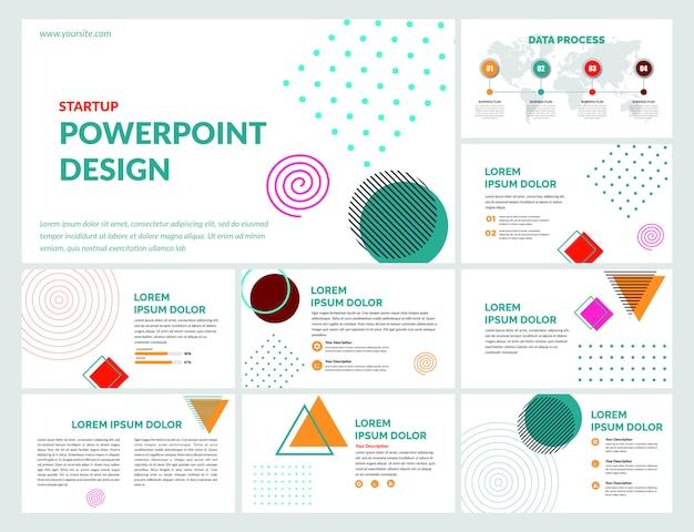 Modèle de diapositives créatives premium