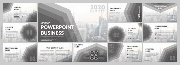 Modèle de diapositives grises d'entreprise