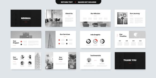 Modèle de diapositives powerpoint de style minimal