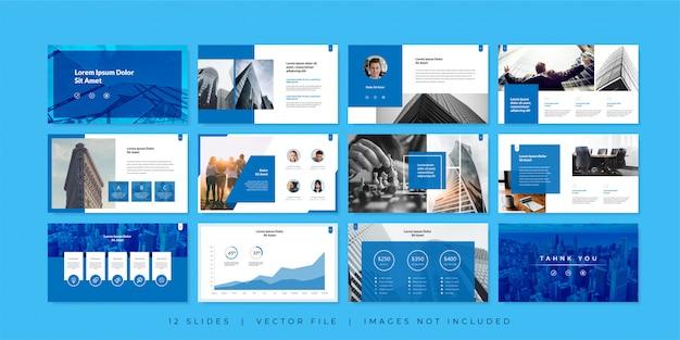 Modèle de diapositives de présentation commerciale minimale