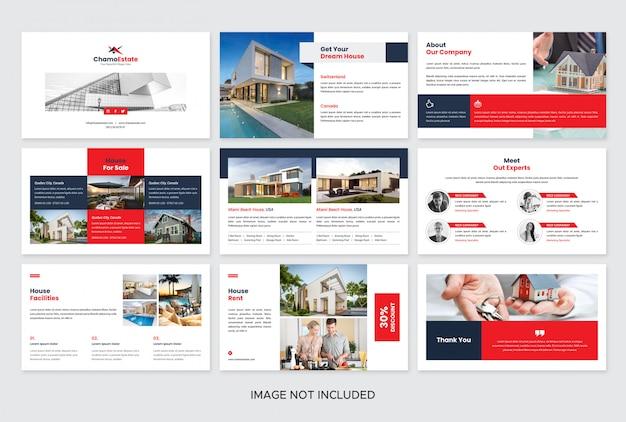 Modèle de diapositives de présentation immobilière