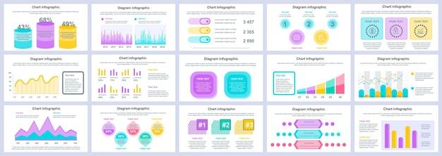Modèle de diapositives de présentation infographie entreprise et finance
