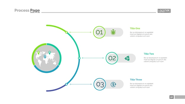 Modèle de diapositives en trois étapes
