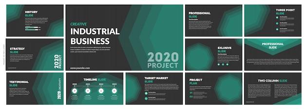 Modèle de diapositives vertes créatives polyvalentes