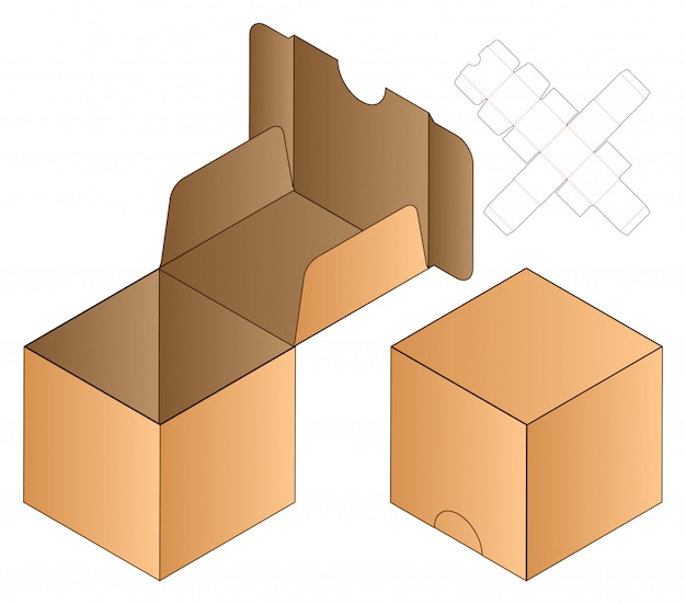 Modèle de dieline pour emballage de flip box