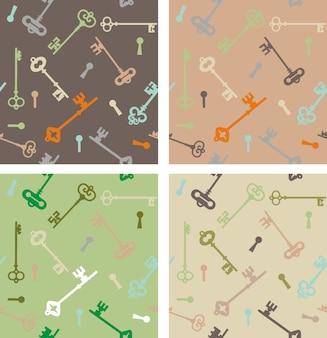 Modèle avec différentes clés antiques