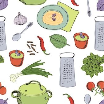 Modèle de dîner de cuisine