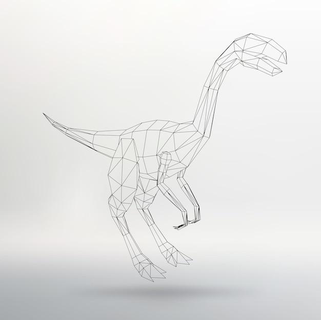 Modèle de dinosaure illustration vectorielle. triangle de polygone. la grille structurelle des polygones. fond de vecteur de concept créatif abstrait. papier à en-tête et brochure de style design polygonal.