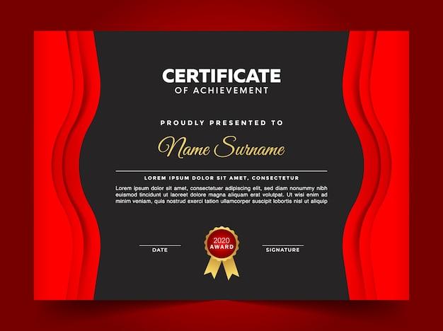 Modèle de diplôme de certificat polyvalent premium géométrique