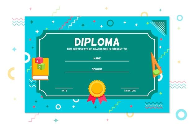 Modèle de diplôme pour le concept des enfants