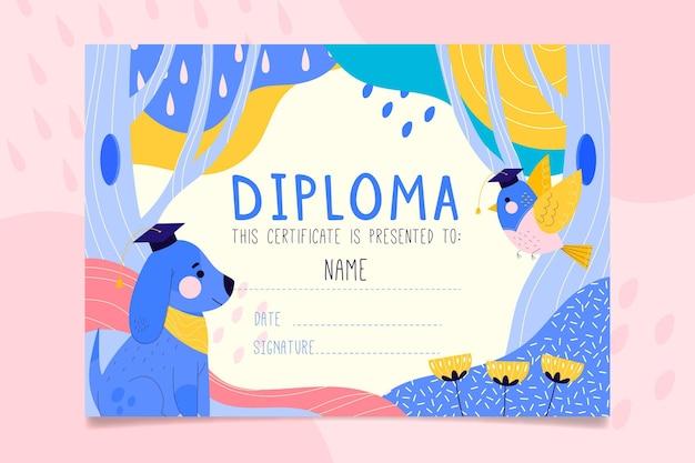 Modèle de diplôme pour les enfants